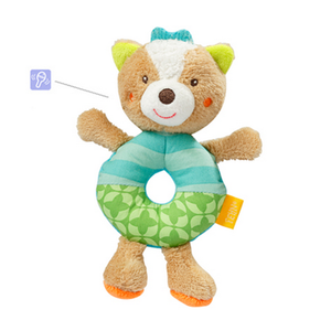 BabyFehn German Soft Toys - Ring Rattle (3 designs)