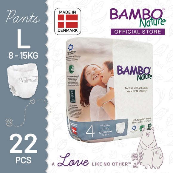 Bambo Nature Training Pants Large (8-15kg) [1 pack, 22pcs/pack]
