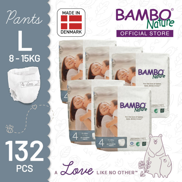 Bambo Nature Training Pants Large (8-15kg) [5 pack, 110pcs/5 pack]