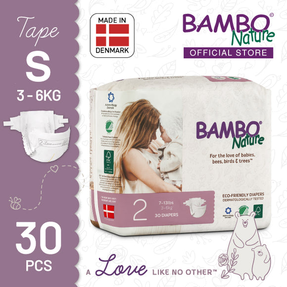 Bambo Nature Baby Diaper [Size 2 / 3-6kg] 30/pack