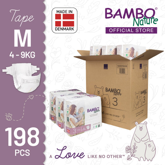 Bambo Nature Baby Diaper [Size 3 / 4-9kg] 33/pack, 6-packs