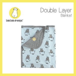 Double Layer Blanket Big Sheepz Blue - 36M