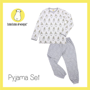Pyjamas Set White Small Sheepz + Grey Big Sheepz