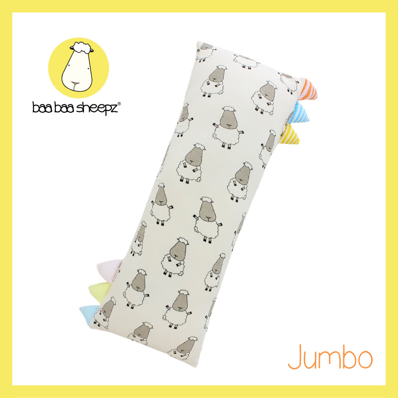 Bed-Time Buddy™ Big Sheepz Yellow with Color & Stripe tag - Jumbo