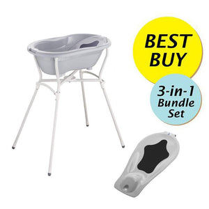 Rotho Babydesign Value Bundle B, Bath Tub + Bath Seat + Bath Stand (6 Colors)