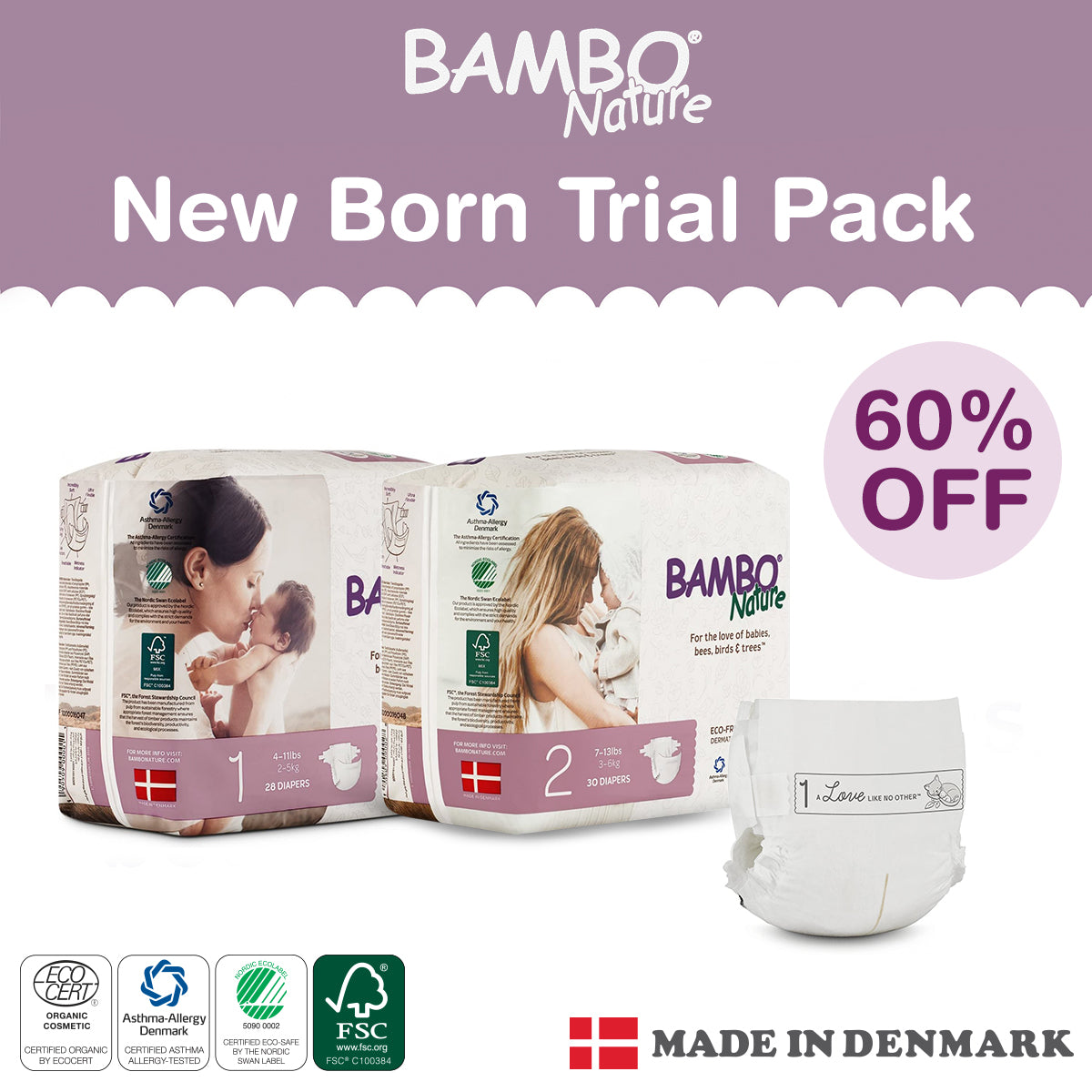 Bambo Nature - New Parent Trial Pack (4 packs)