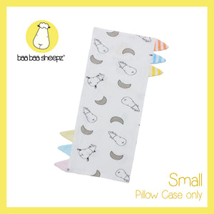 Bed-Time Buddy™ Case Small Moon & Sheepz White with Color & Stripe tag - Small