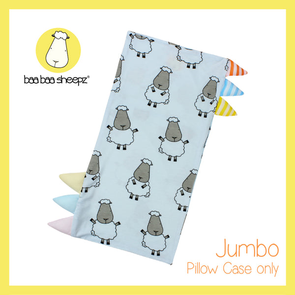 Bed-Time Buddy™ Case Big Sheepz Blue with Color & Stripe tag - Jumbo
