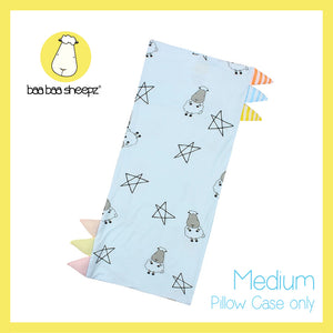 Bed-Time Buddy™ Case Big Star & Sheepz Blue with Color & Stripe tag - Medium