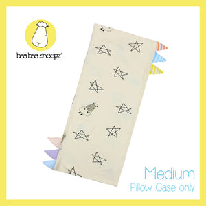 Bed-Time Buddy™ Case Big Star & Sheepz Yellow with Color & Stripe tag - Medium