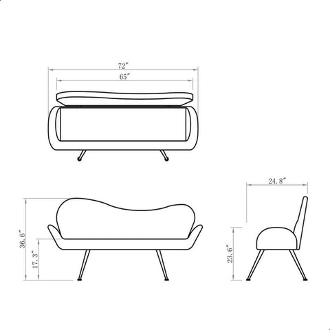 Dream In Reality DIR Passione Waiting Bench Customer & Waiting Chairs - ChairsThatGive