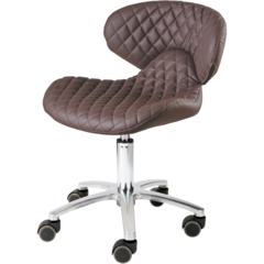 Whale Spa Whale Spa #1001H-DIA Diamond Technician Stool Chair  - ChairsThatGive