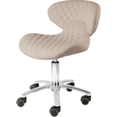 Image of Whale Spa Whale Spa #1001H-DIA Diamond Technician Stool Chair  - ChairsThatGive
