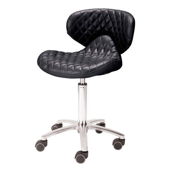Whale Spa Whale Spa Lexi High - Diamond Quilted Leather Technician Stool Tech Stool - ChairsThatGive