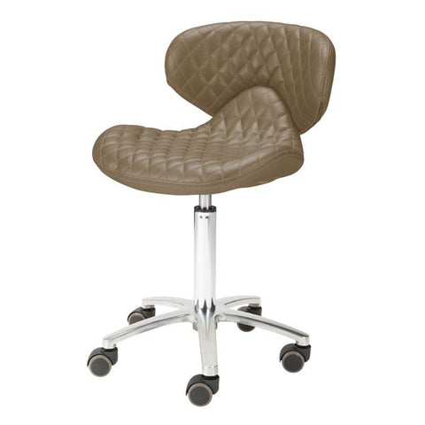 Whale Spa Lexi High - Diamond Quilted Leather Technician Stool
