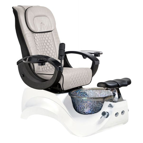 Image of Whale Spa Whale Spa Pedicure Chair Alden Crystal with Free Trolley & Stool Pedicure Chair - ChairsThatGive