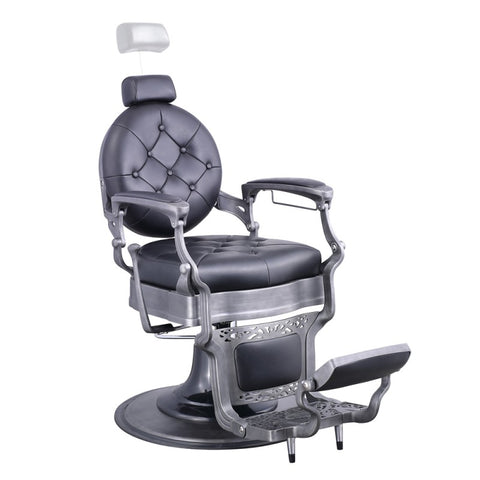 Dream In Reality DIR Barber Chair Vanquish - Brushed Frame Barber Chairs - ChairsThatGive