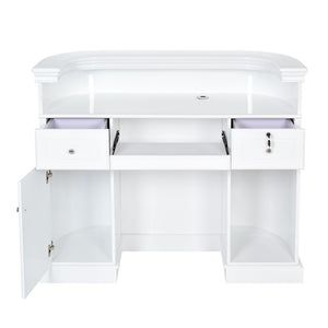 Dream In Reality DIR Alex Reception Desk with LED Lighting Reception Desk - ChairsThatGive
