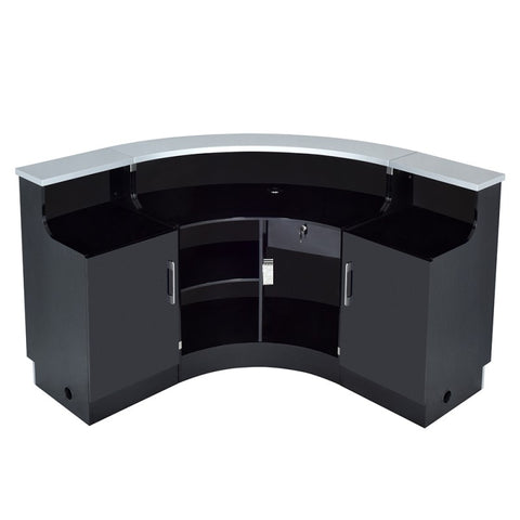 Dream In Reality DIR Janus - Curved & L-Shaped Reception Desk with LED Lighting Reception Desk - ChairsThatGive