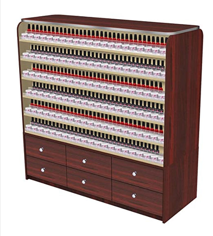 Image of Mayakoba Avon I Polish Rack with Cabinets