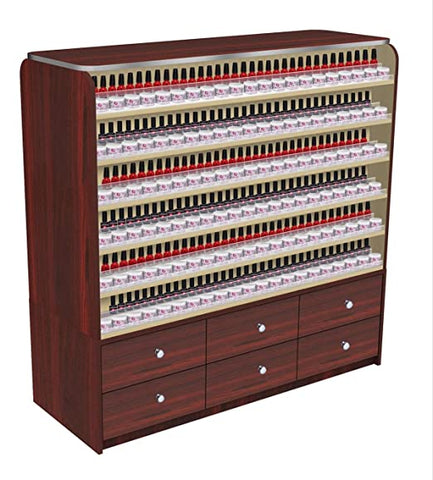 Mayakoba Avon I Polish Rack with Cabinets