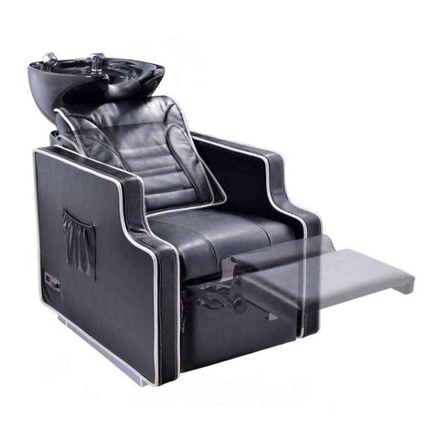 Dream In Reality DIR Adriano Shampoo Backwash Unit with Massage & Reclining Backrest Shampoo & Backwash Unit - ChairsThatGive