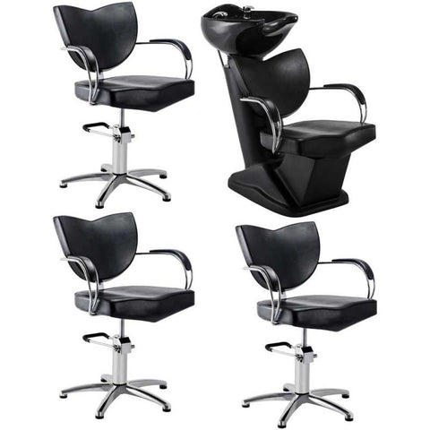 Dream In Reality DIR Fiore Backwash Unit + 3x Fiorellino Styling Chairs Salon Package Hair Salon Package - ChairsThatGive