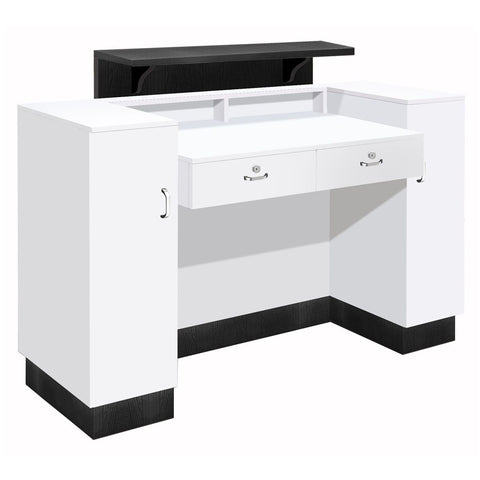 Whale Spa SC06 Reception Desk with Free Nail Salon Task Stool