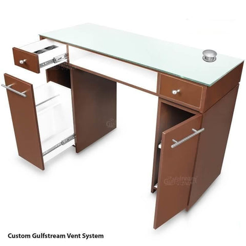 Image of Gulfstream Gulfstream Paris Single Manicure Nail Table Manicure Nail Table - ChairsThatGive