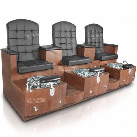 Image of Gulfstream Gulfstream Paris Triple Bench Spa & Pedicure Chair Pedicure & Spa Chairs - ChairsThatGive