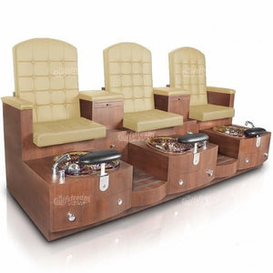 Gulfstream Gulfstream Paris Triple Bench Spa & Pedicure Chair Pedicure & Spa Chairs - ChairsThatGive