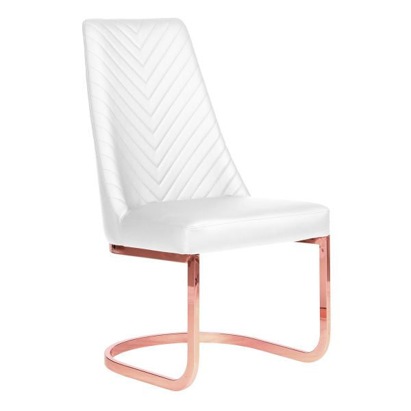 Whale Spa Whale Spa Chevron Rose Gold Acetone Safe Customer Chair Customer Chair - ChairsThatGive