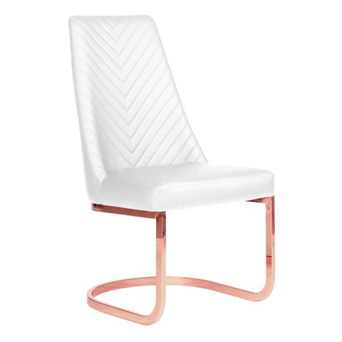 Whale Spa Chevron Rose Gold Acetone Safe Customer Chair