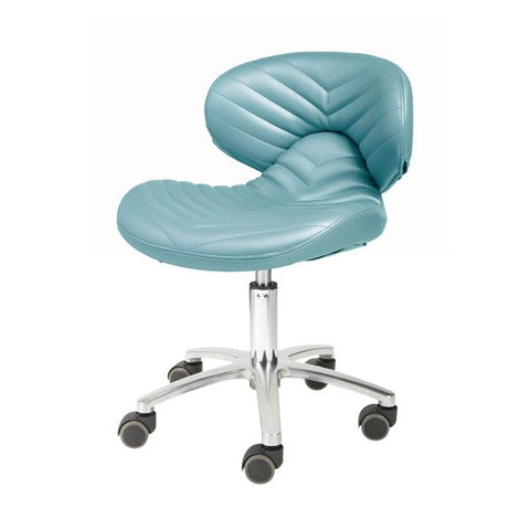 Image of Whale Spa Whale Spa Chevron #1010L Pedicure Stool Chair Tech Stool - ChairsThatGive