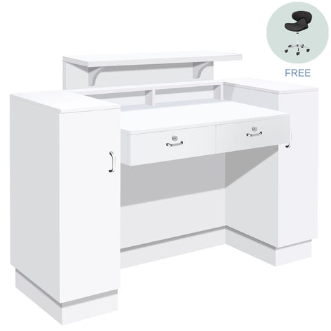 Whale Spa Whale Spa SC06 Reception Desk with Free Nail Salon Task Stool Reception Desk - ChairsThatGive