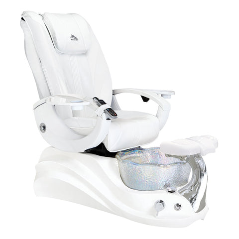 Image of Whale Spa Pedicure Chair Crane White Edition with Free Trolley & Stool
