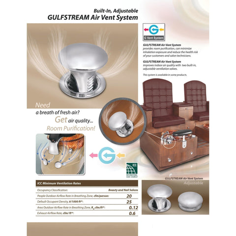 Gulfstream Gulfstream Air Vent System Pedicure Chair Accessories - ChairsThatGive