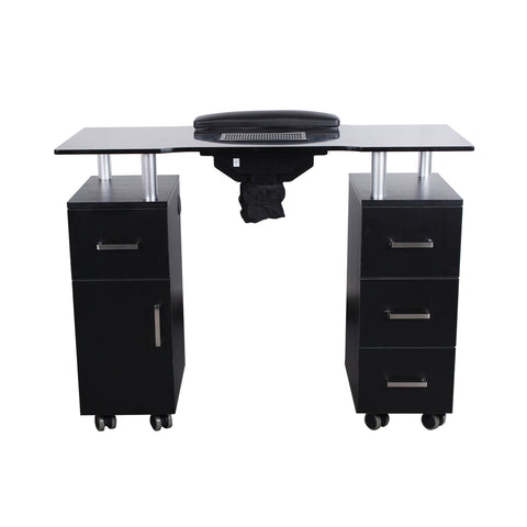 Image of Dermalogic Dermalogic Glasglow Manicure Table with Fan Manicure Nail Table - ChairsThatGive