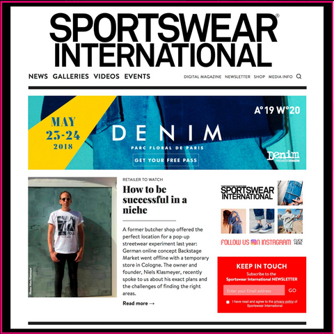 Interview at Sportswear International