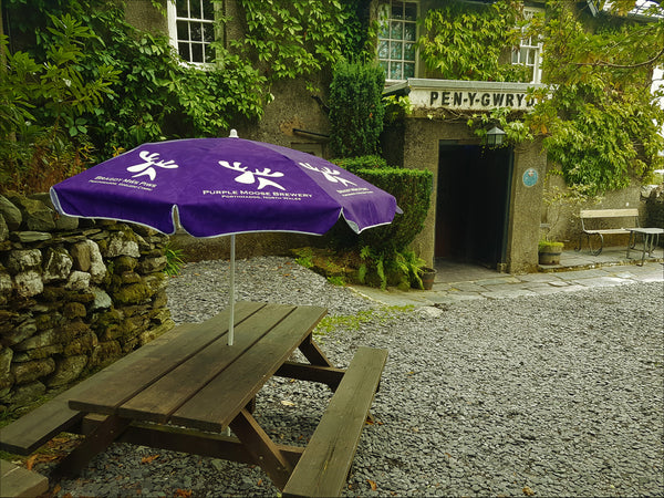 Purple moose parasol