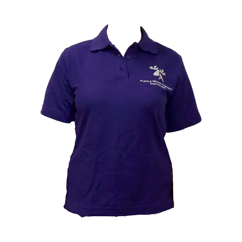 Ladies Purple Polo