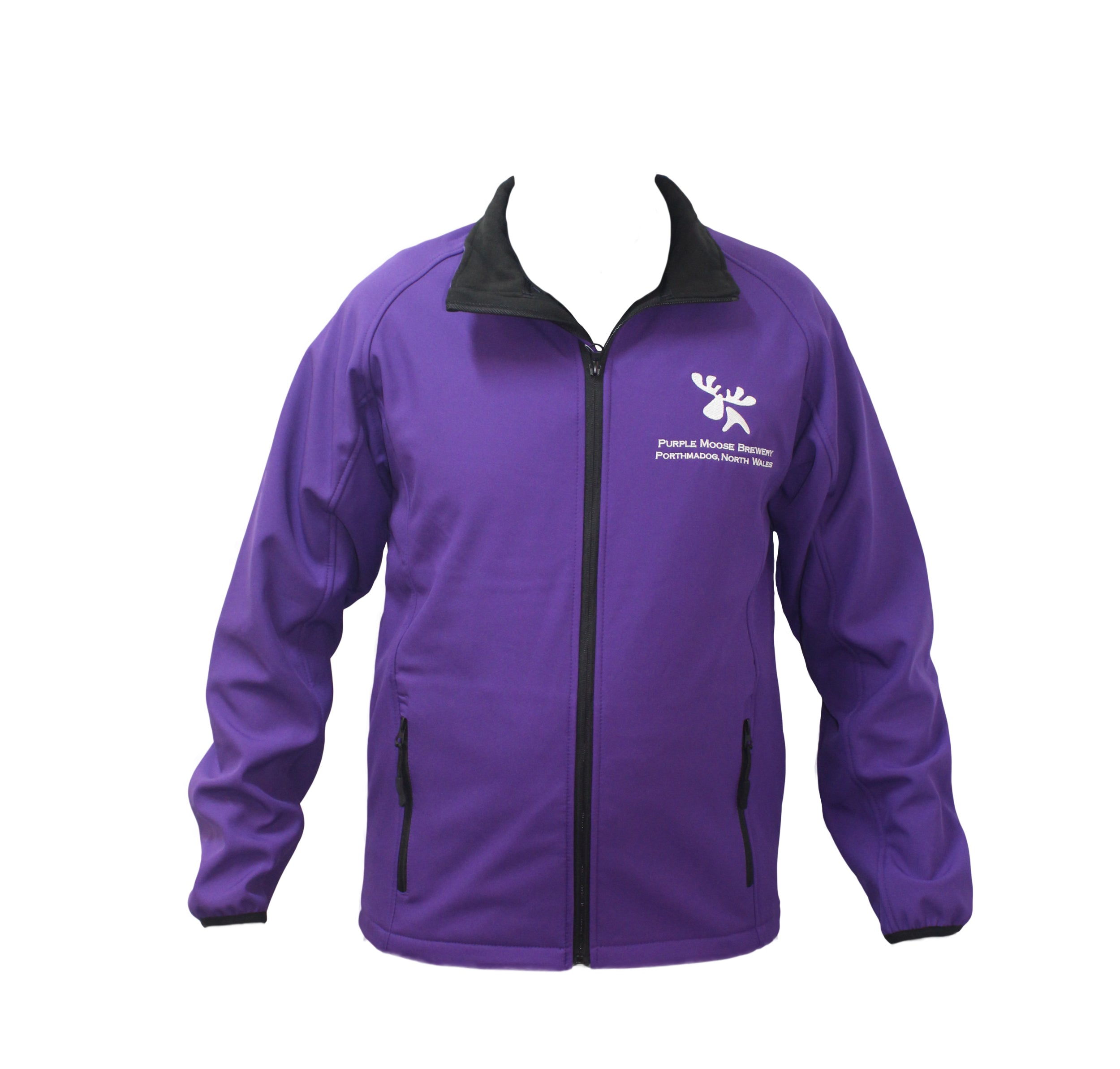 Soft shell jacket purple