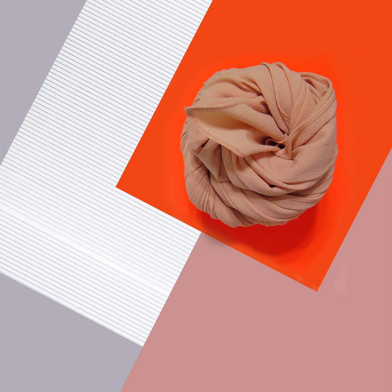 Silk Crepe in Melon Apricot
