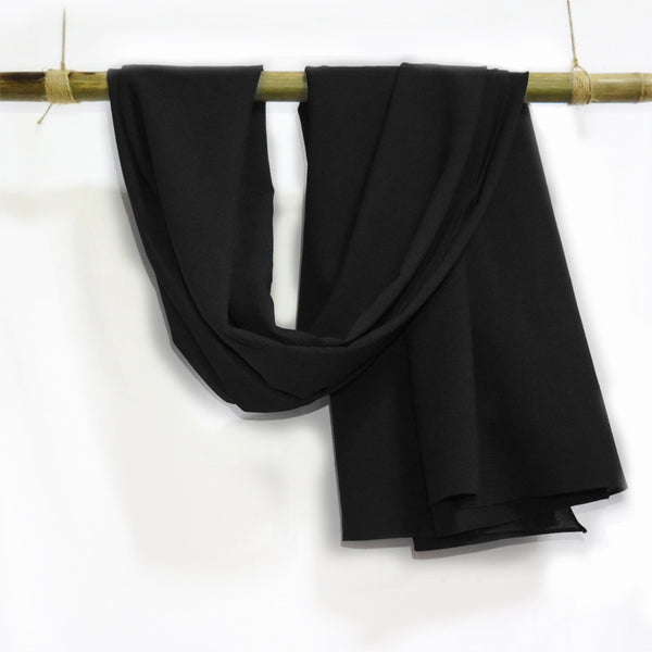 Silk Crepe in Black