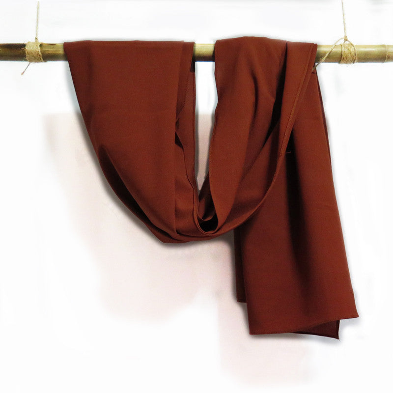 Silk Crepe in Sienna