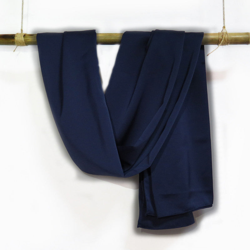 Silk Satin in Oxford Blue