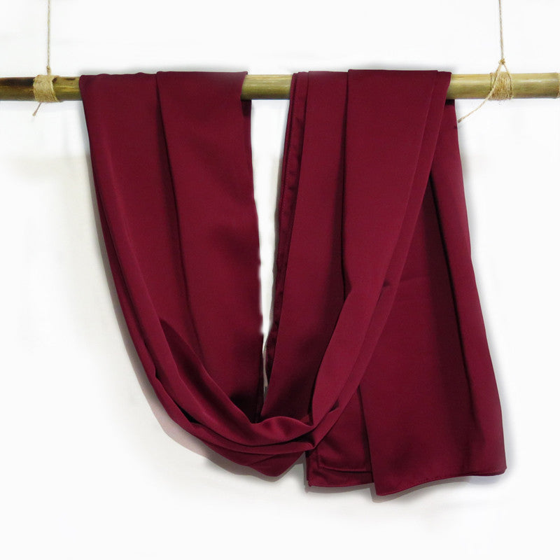 Silk Satin in Burgundy