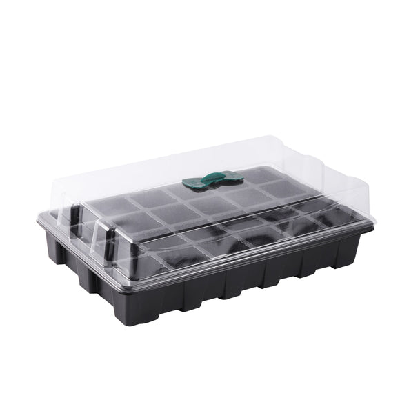 36x23x10.5cm Seeds Seedling Tray 24-CellsWith Transparent Lids