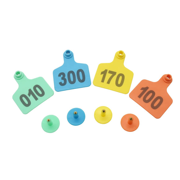 Livestock Cow Cattle TPU Ear Tag With Numbers 100 Sets