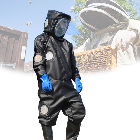 Beekeeping Protective Fullbody Clothing Jacket - Black